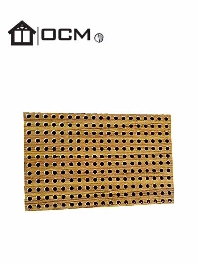 HPL laminated perforated acoustic panel